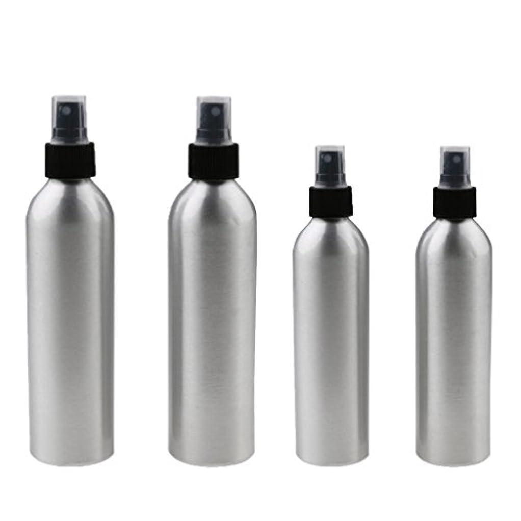 検索エンジン最適化線形縞模様の4本入り スプレーボトル 100mlと150ml各2本 アルミミスト スプレー 香水 ボトル スプレーアトマイザー