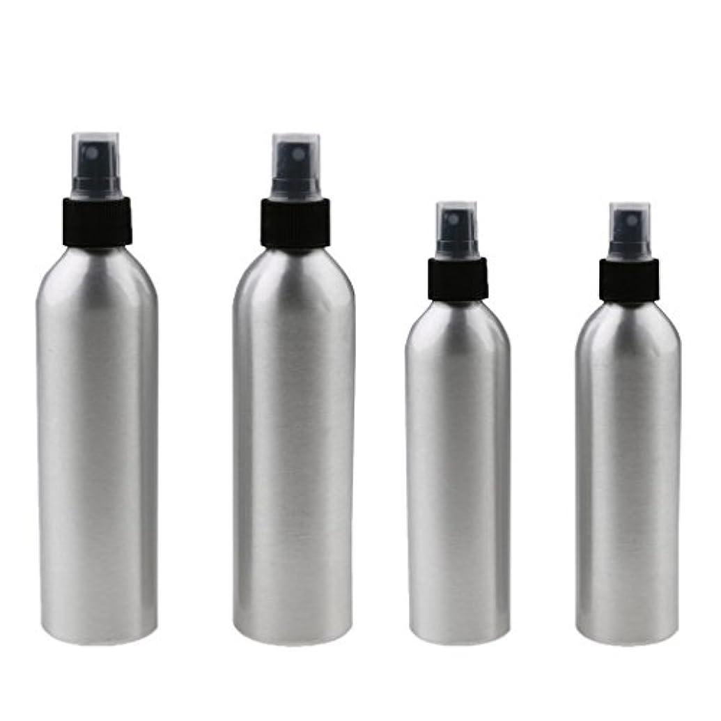 臭い気分が良いマーチャンダイザーKesoto 4本入り スプレーボトル 100mlと150ml各2本 アルミミスト スプレー 香水 ボトル スプレーアトマイザー
