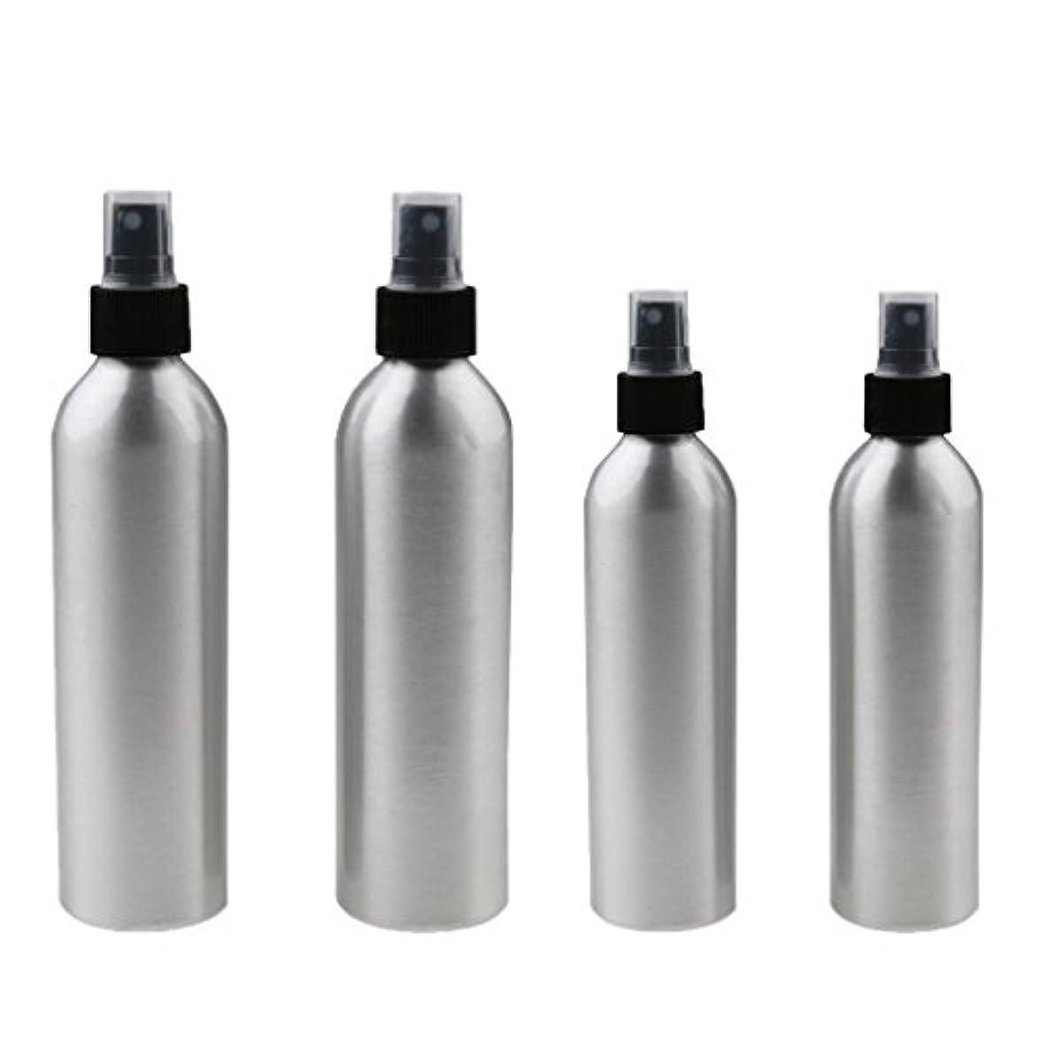 汚物フリッパードアミラーKesoto 4本入り スプレーボトル 100mlと150ml各2本 アルミミスト スプレー 香水 ボトル スプレーアトマイザー