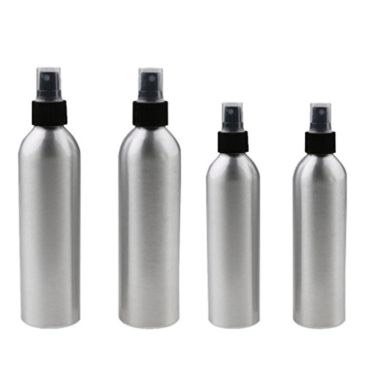 トイレ愛国的なあごひげ4本入り スプレーボトル 100mlと150ml各2本 アルミミスト スプレー 香水 ボトル スプレーアトマイザー