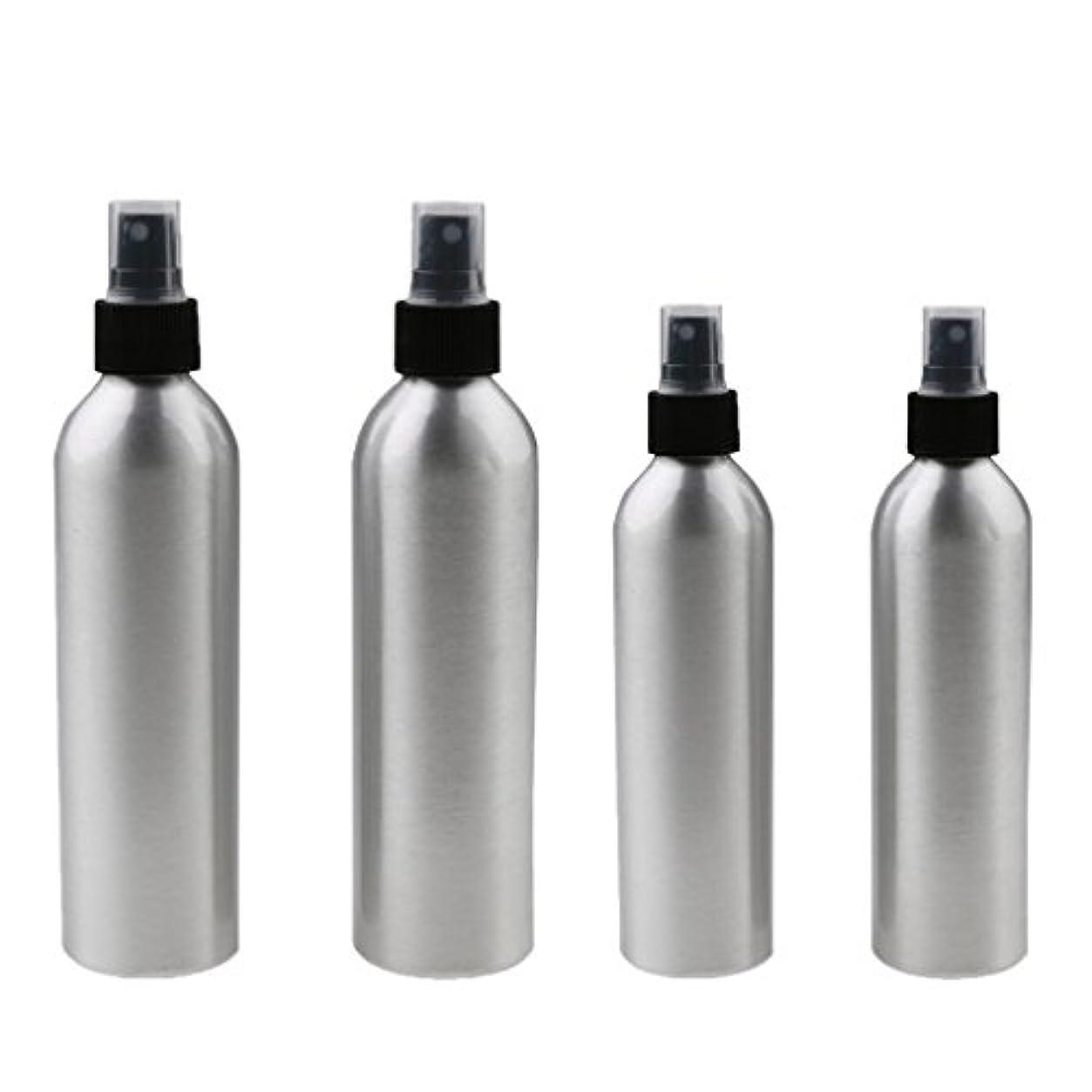 気がついて柔らかさ先見の明Kesoto 4本入り スプレーボトル 100mlと150ml各2本 アルミミスト スプレー 香水 ボトル スプレーアトマイザー