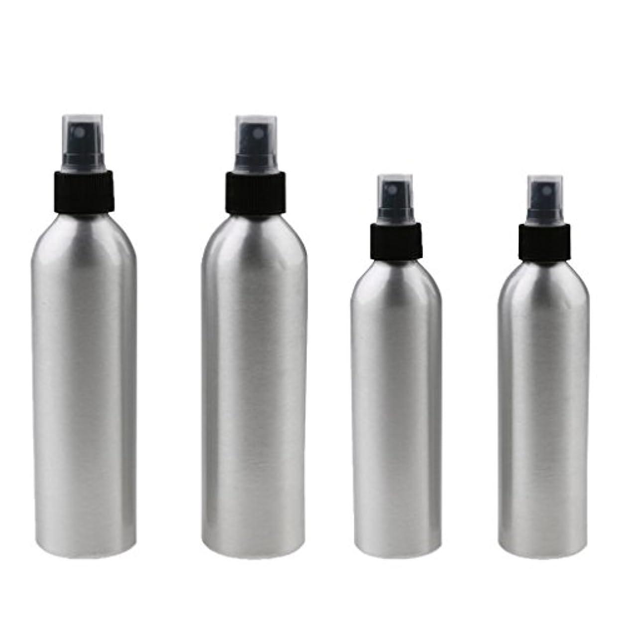 奇妙なホース成果4本入り スプレーボトル 100mlと150ml各2本 アルミミスト スプレー 香水 ボトル スプレーアトマイザー