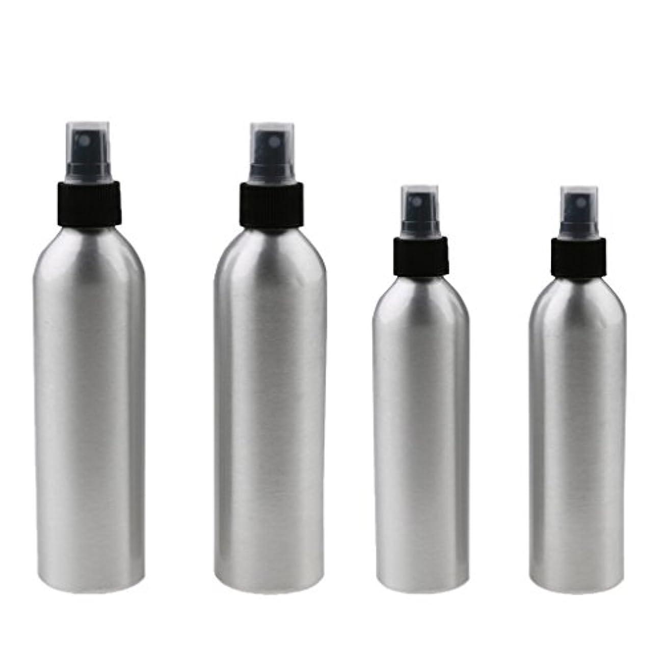抗議良心有害な4本入り スプレーボトル 100mlと150ml各2本 アルミミスト スプレー 香水 ボトル スプレーアトマイザー