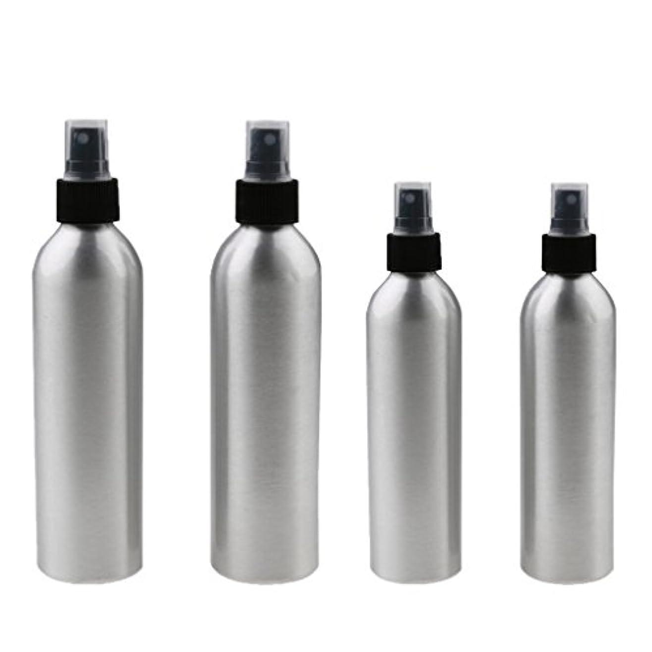 篭ネイティブ取得するKesoto 4本入り スプレーボトル 100mlと150ml各2本 アルミミスト スプレー 香水 ボトル スプレーアトマイザー
