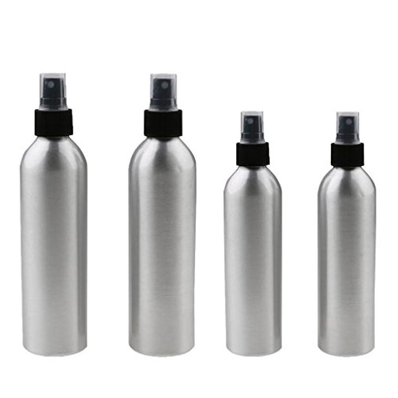 時間制限禁止する4本入り スプレーボトル 100mlと150ml各2本 アルミミスト スプレー 香水 ボトル スプレーアトマイザー