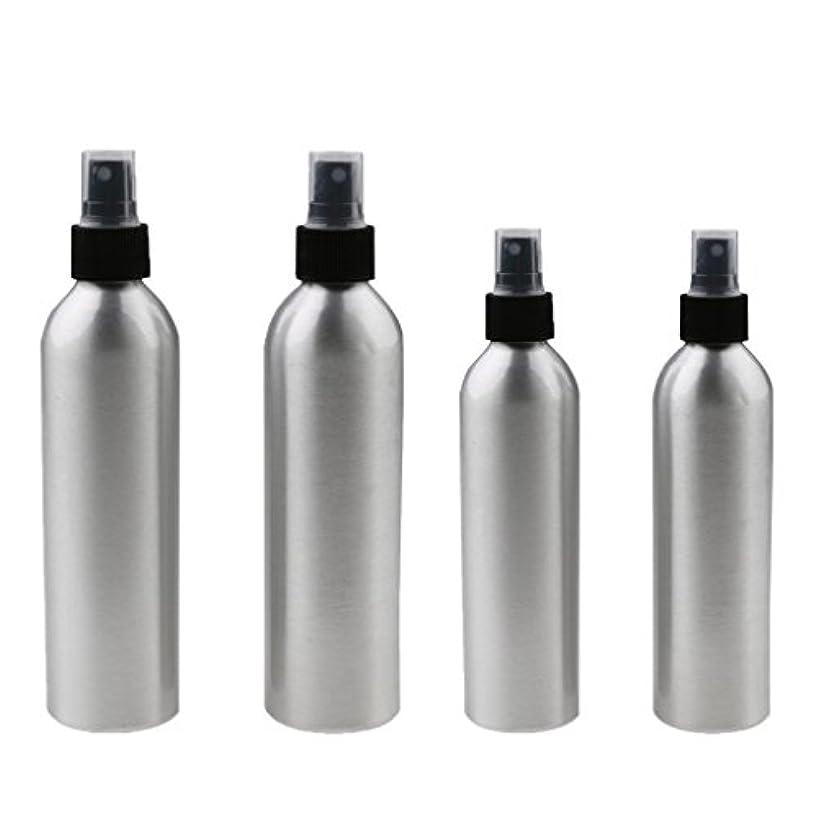 煙ちっちゃいチケットKesoto 4本入り スプレーボトル 100mlと150ml各2本 アルミミスト スプレー 香水 ボトル スプレーアトマイザー