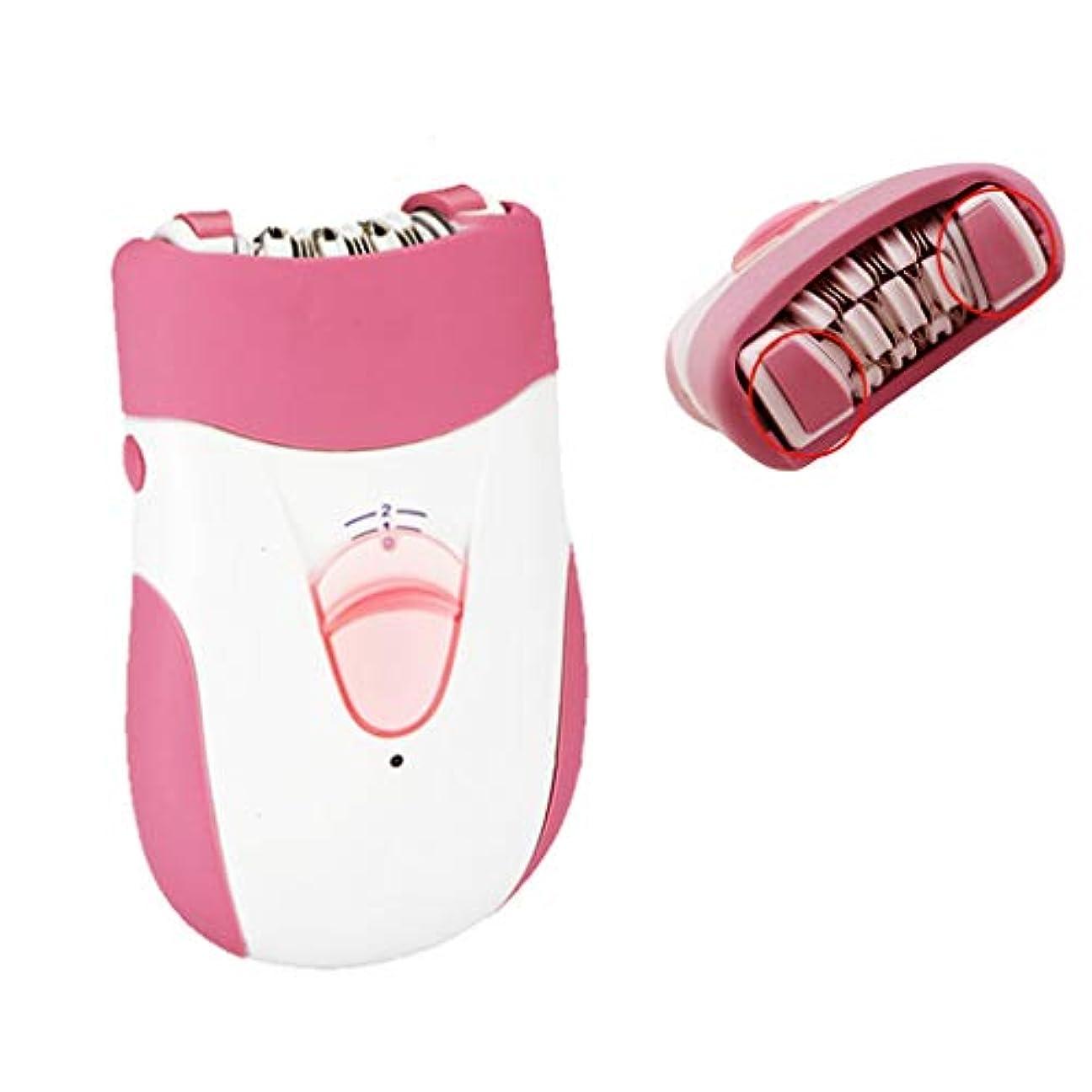 対リクルートミシン女性用電気シェーバー充電式脱毛器シェーバー脱毛式かみそり、洗える、脇の下、脚、腕などに適しています。,Pink