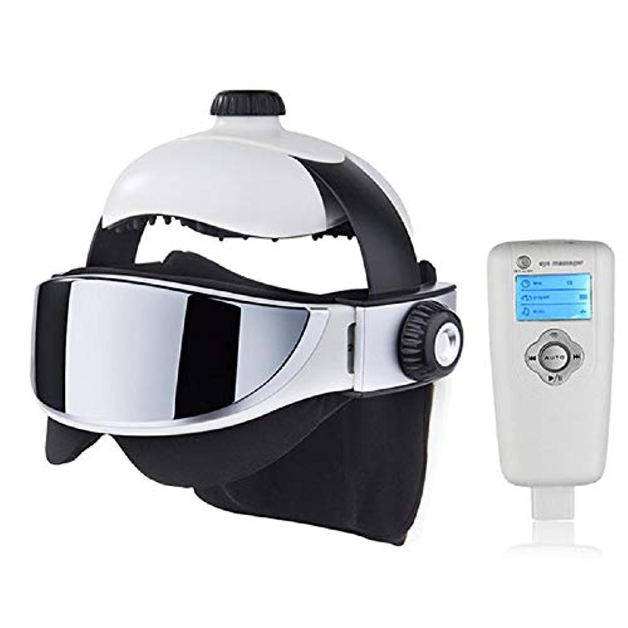 風刺誇りスズメバチ1のヘッドマッサージャー、アイマッサージャー2、ストレスを解消睡眠音楽マッサージヘルメット、自動赤外線圧力ヘッドマッサージ