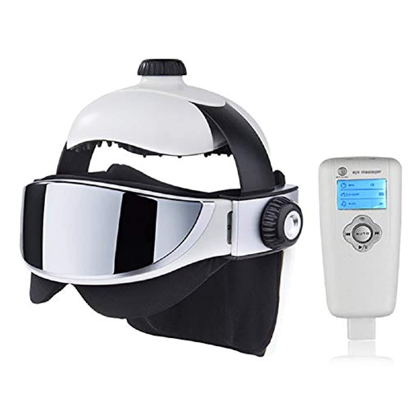 出席する高潔なホステスRuzzy 高度な圧子2イン1ヘッドマッサージ、アイマッサージ、高度な音楽マッサージヘルメットデザイン 購入へようこそ