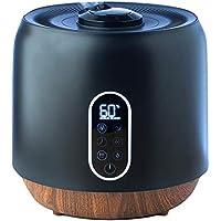 加湿器 ハイブリッド式加湿器 ハイブリッド 超音波 加熱ミスト 手入れ簡単 大容量 静音 湿度調整 アロマ リモコン タイマー 卓上 オフィス 2段階調整 湿度コントロール 自動停止機能 360度回転 maxzen KSS-MX401BK (ブラック)