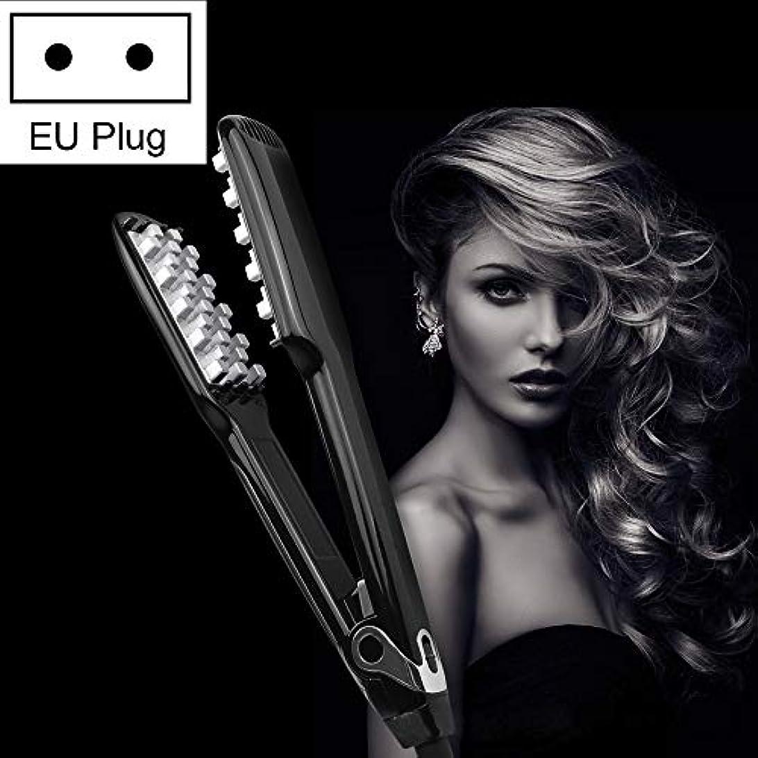 WTYD 美容ヘアツール WT042 150 Wデジタルディスプレイ自動ヘアカーラー副木、EUプラグ (色 : Black)