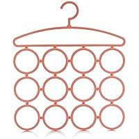 Simple Life クローゼット 吊り下げ収納 リングハンガー ベルト ネクタイ スカーフ 収納用 ハンガー リング12個 省スペース ハンガー ラック コート マフラー掛け マルチハンガー 物干しにも適用できる 2枚セット  (ピンク)