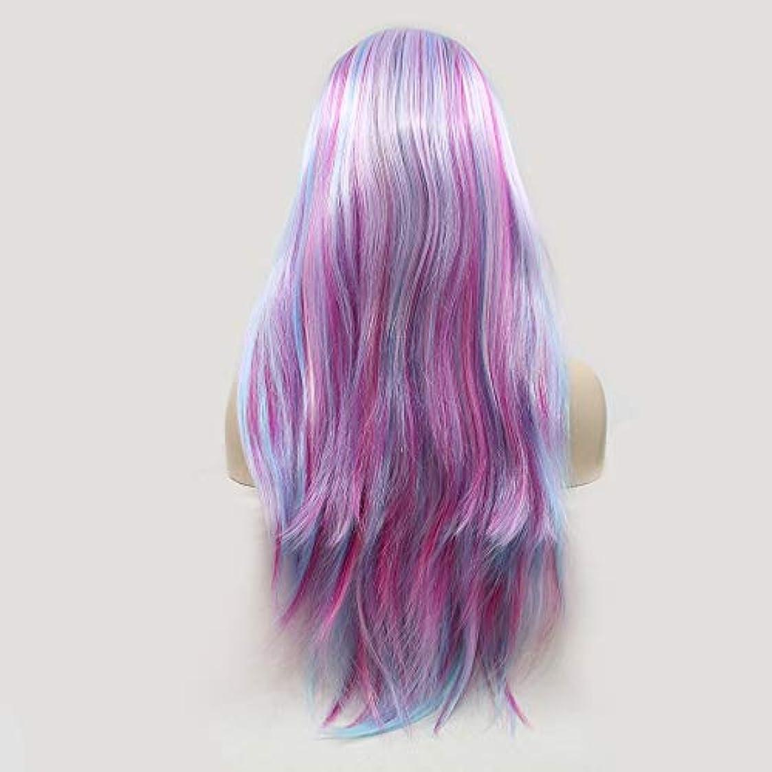 手伝う誠実さ追い出すヘアピース グラデーションカラーの長い巻き毛の手作りレースヨーロッパとアメリカのかつらウィッグ髪に設定