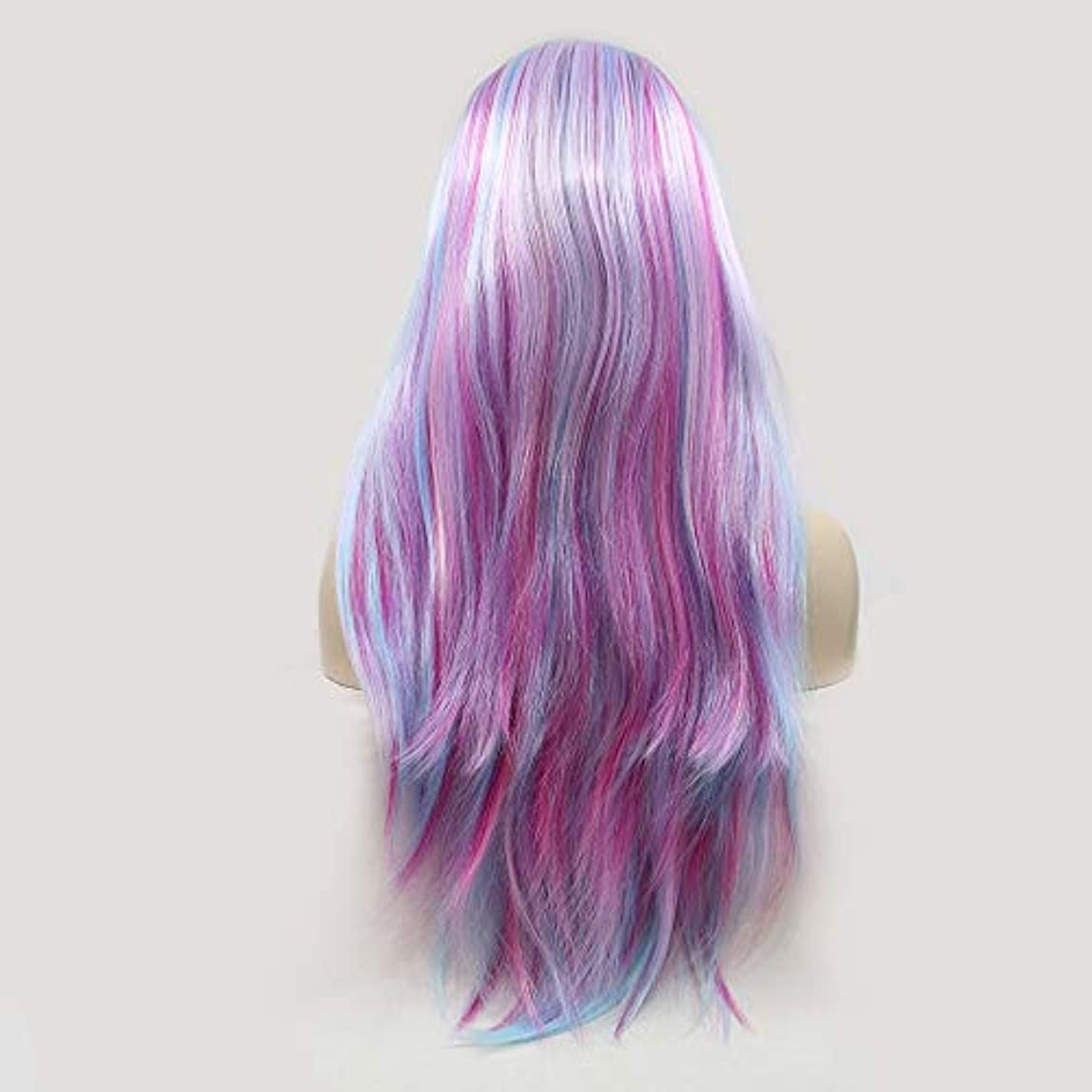 決定的暗唱する平等ヘアピース グラデーションカラーの長い巻き毛の手作りレースヨーロッパとアメリカのかつらウィッグ髪に設定