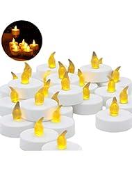 LEDMOMO キャンドル LED 誕生日キャンドル プラスチック 無炎 フェスティバル 祭り 祝賀(白)