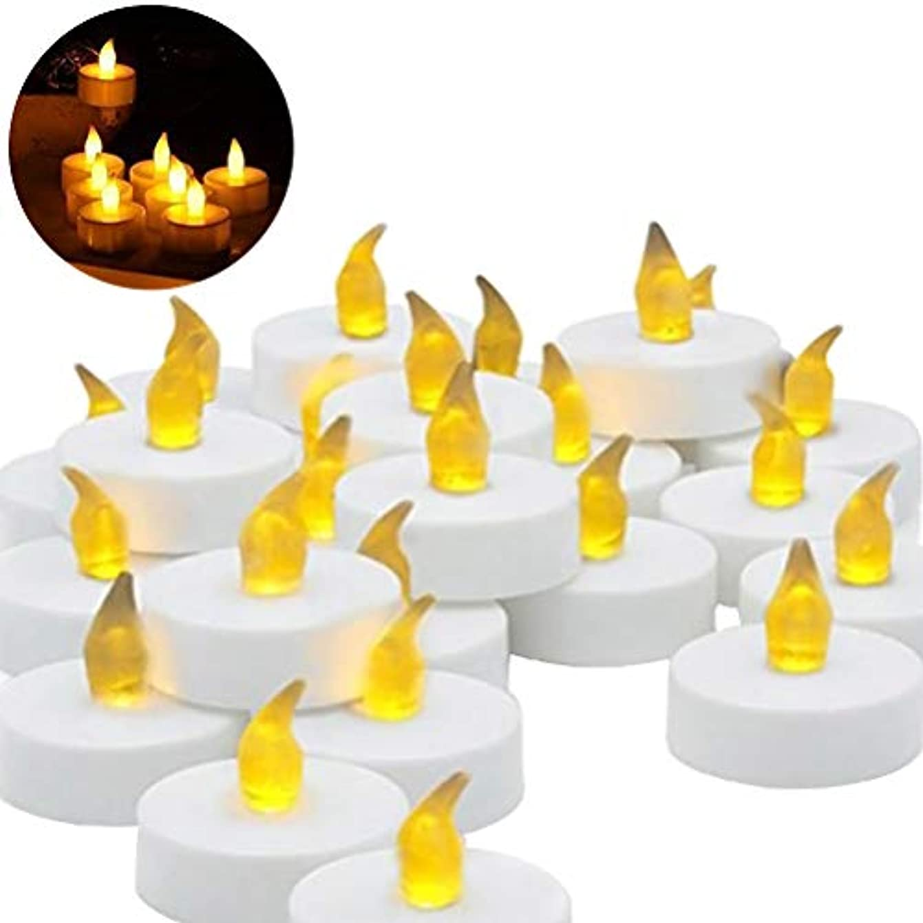 アピール表向きテレマコスLEDMOMO キャンドル LED 誕生日キャンドル プラスチック 無炎 フェスティバル 祭り 祝賀(白)