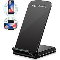 Vicstar ワイヤレス充電器 Qi 急速 ワイヤレスチャージャー ワイヤレススタンド充電 スマートフォン充電ドック 充電クレードルQuick Charge 2.0 2つのコイル マルチ保護機能 10W 急速充電 iPhone X 充電器 iPhone X / iphone8 / iPhone 8 Plus / Galaxy Note8 / Galaxy S8 / S8 Plus / S7 / S7 Edge / Note 5 / S6 Edge Plus 他Qi対応機種 ブラック