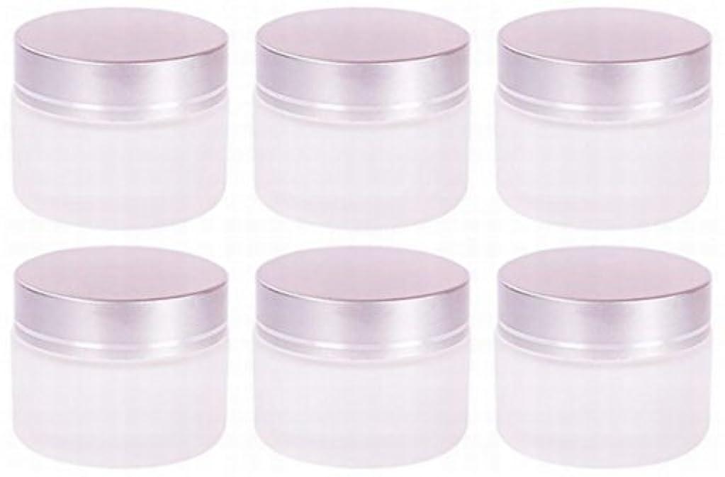 目の前のなだめる熟達した【Rurumi】ハンドクリーム 容器 すりガラス 乳白色 遮光 ジャー セット アロマ ハンド クリーム 遮光瓶 ガラス 瓶 アロマ ボトル 白 ビン 保存 詰替え (30g 6個 セット)