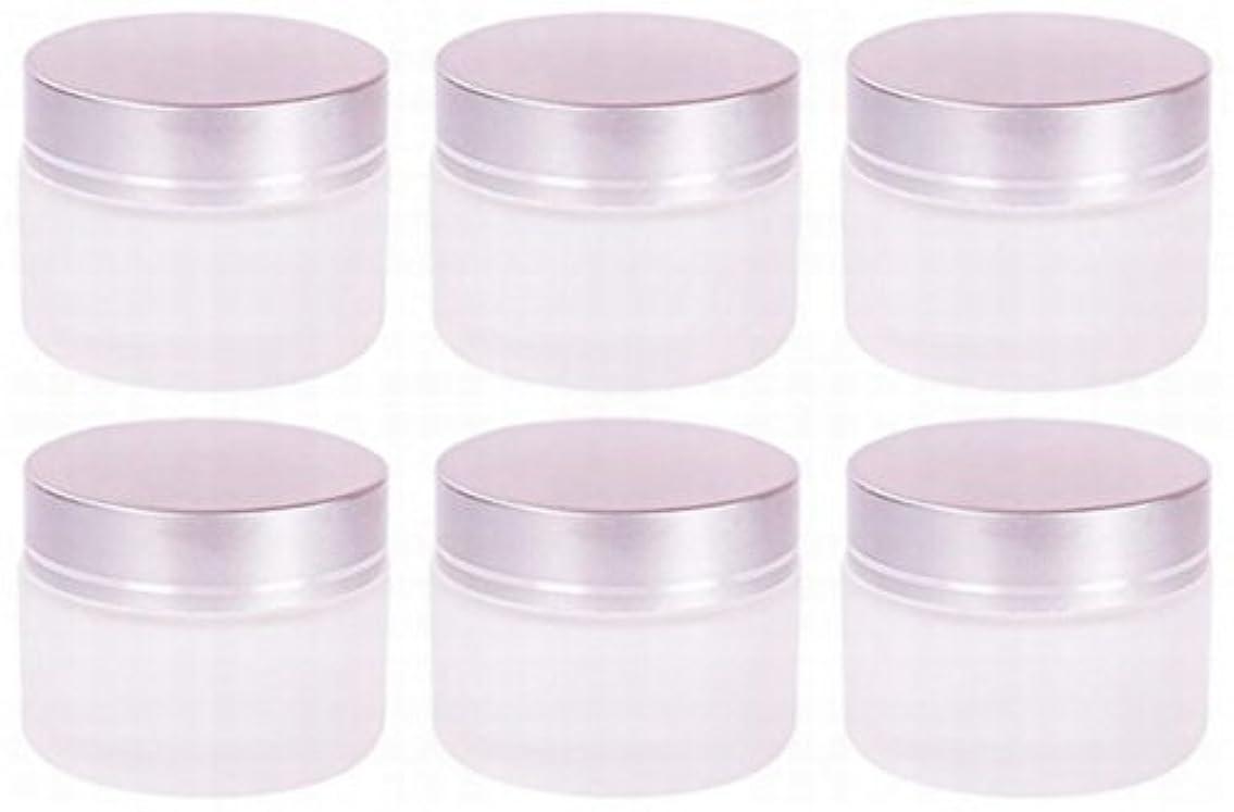 はっきりとガイド通り【Rurumi】ハンドクリーム 容器 すりガラス 乳白色 遮光 ジャー セット アロマ ハンド クリーム 遮光瓶 ガラス 瓶 アロマ ボトル 白 ビン 保存 詰替え (20g 6個 セット)
