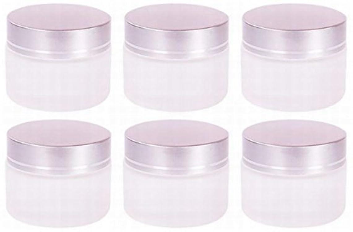 イノセンス針避けられない【Rurumi】ハンドクリーム 容器 すりガラス 乳白色 遮光 ジャー セット アロマ ハンド クリーム 遮光瓶 ガラス 瓶 アロマ ボトル 白 ビン 保存 詰替え (30g 6個 セット)