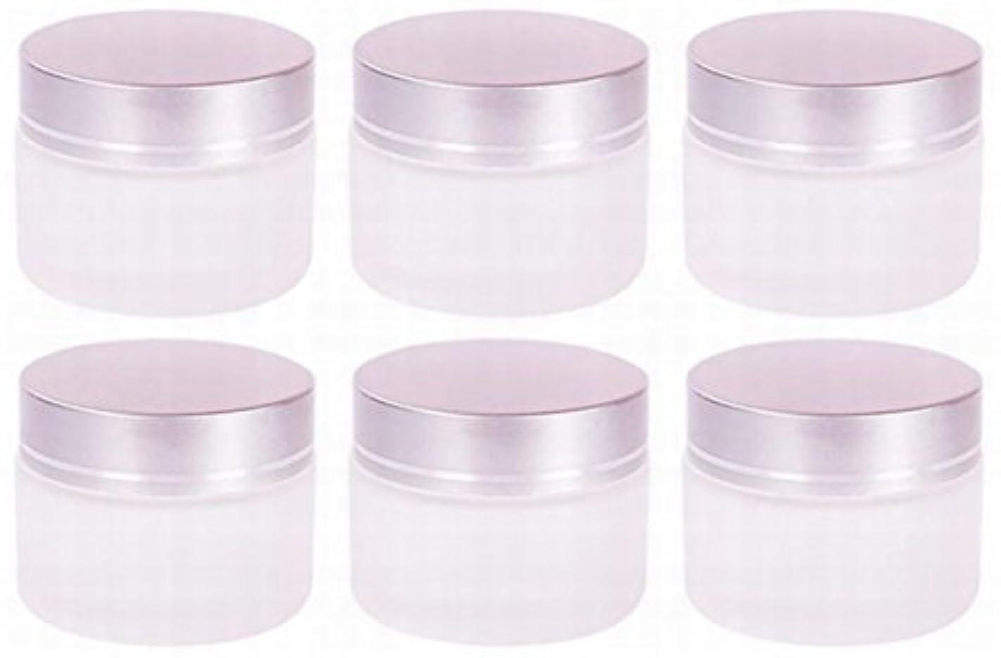 事実許さない密度【Rurumi】ハンドクリーム 容器 すりガラス 乳白色 遮光 ジャー セット アロマ ハンド クリーム 遮光瓶 ガラス 瓶 アロマ ボトル 白 ビン 保存 詰替え (30g 6個 セット)