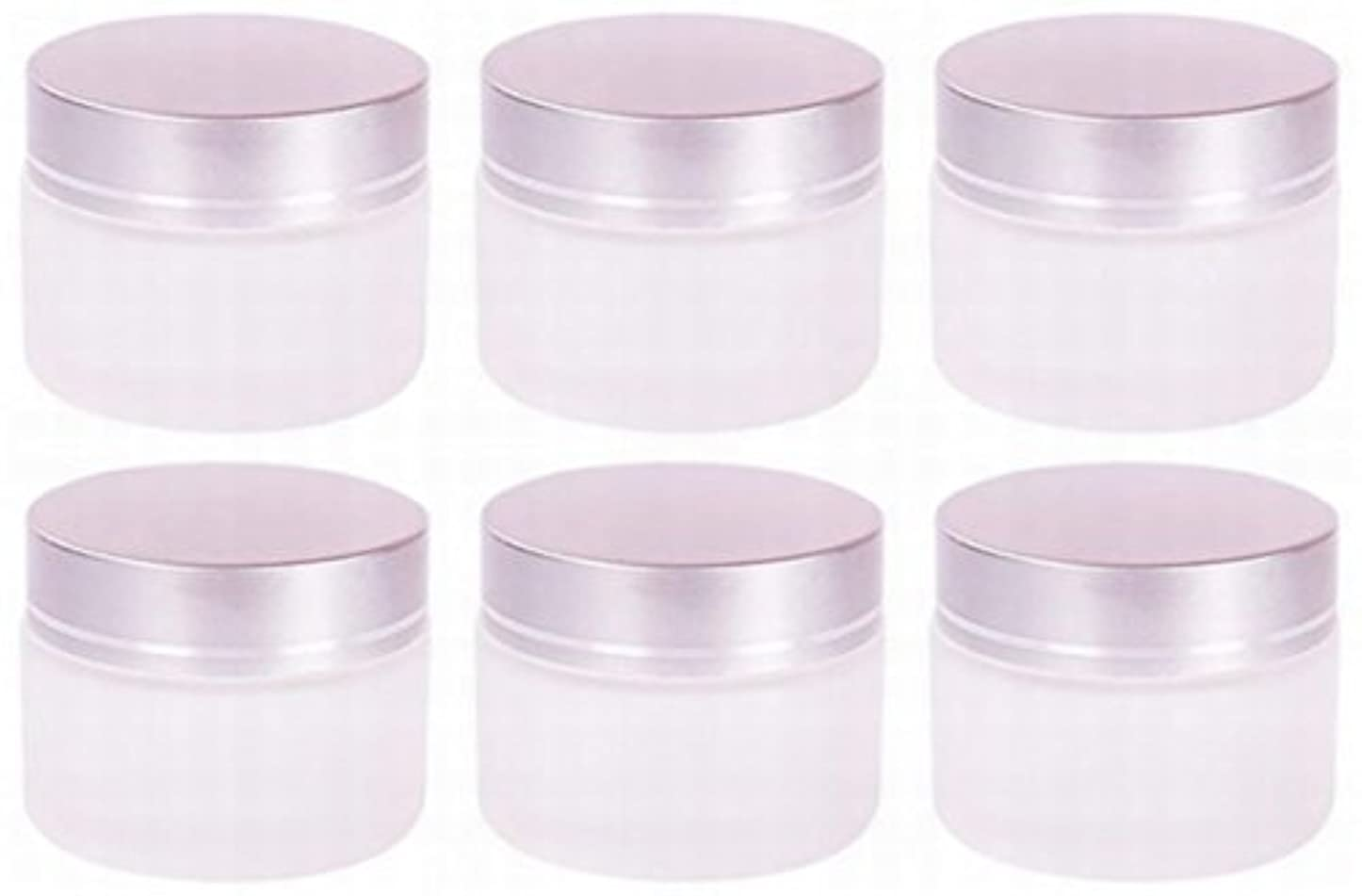 面白い証人少なくとも【Rurumi】ハンドクリーム 容器 すりガラス 乳白色 遮光 ジャー セット アロマ ハンド クリーム 遮光瓶 ガラス 瓶 アロマ ボトル 白 ビン 保存 詰替え (20g 6個 セット)