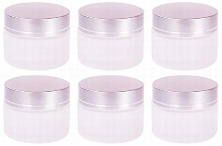 等しい時期尚早カップ【Rurumi】ハンドクリーム 容器 すりガラス 乳白色 遮光 ジャー セット アロマ ハンド クリーム 遮光瓶 ガラス 瓶 アロマ ボトル 白 ビン 保存 詰替え (30g 6個 セット)