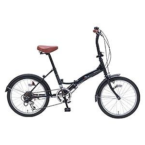 My Pallas(マイパラス) 折りたたみ自転車 M-209 20インチ 6段変速 ブラックパール