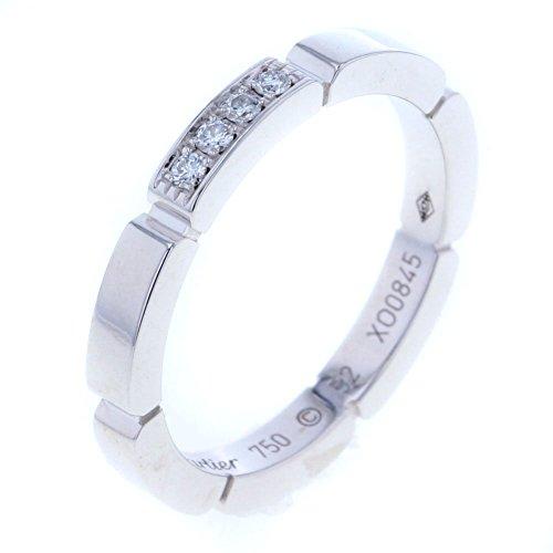 (カルティエ) CARTIER マイヨンパンテール4P リング・指輪 K18ホワイトゴールド/ダイヤモンド ダイヤモンド レディース 中古 [PD2]