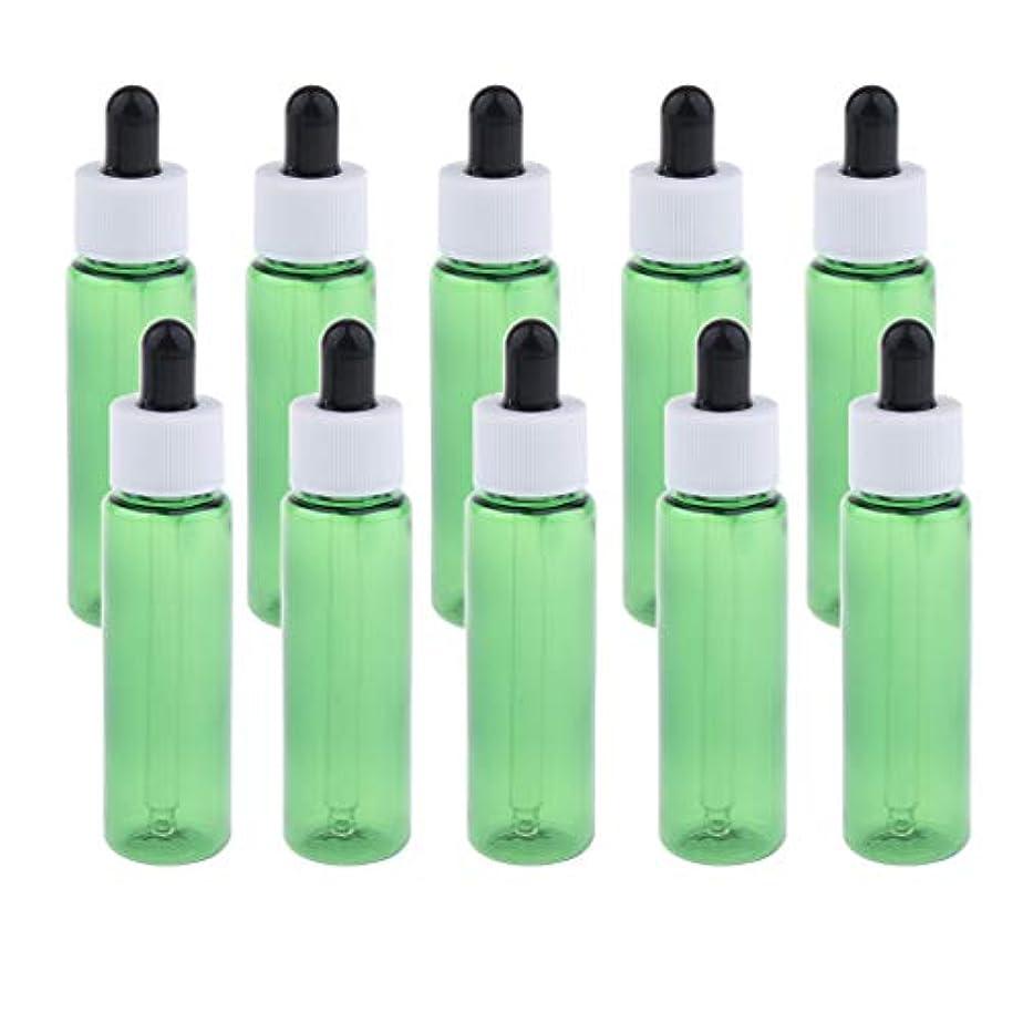 薬剤師満員カナダ約10個 エッセンシャルオイル スポイトボトル 香水 小分け マッサージ 美容室 30ml 全4色 - 緑