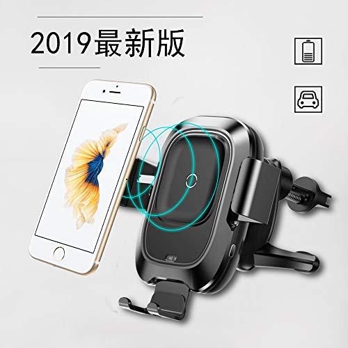 Qi 車載 ワイヤレス充電器 赤外線センサー 自動開閉 車載...