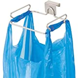 EYLEER Stainless Steel Trash Bags Holders Trash Bag Holder Rack for Recycled Reusable Disposable Plastic Shopping Grocery Bags for Kitchen,Pantry,Garage,Bathroom