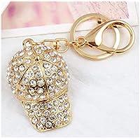 FenBuGu-JPFenBuGu-JP 女性のためのダイヤモンドハットキーホルダーキーリングとハンドバッグペンダントの財布のチャームRing_White
