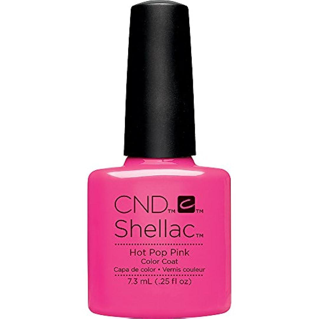ピザサッカー静脈CND(シーエヌディー) シェラック UVカラーコート 519 Hot Pop Pink(マット) 7.3ml