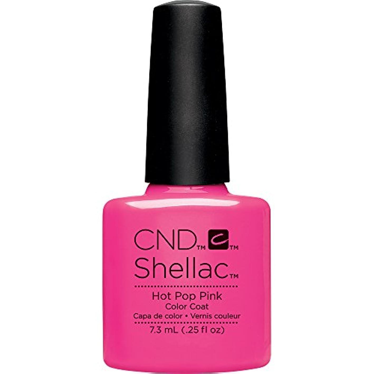 タワーベリー分数CND(シーエヌディー) シェラック UVカラーコート 519 Hot Pop Pink(マット) 7.3ml