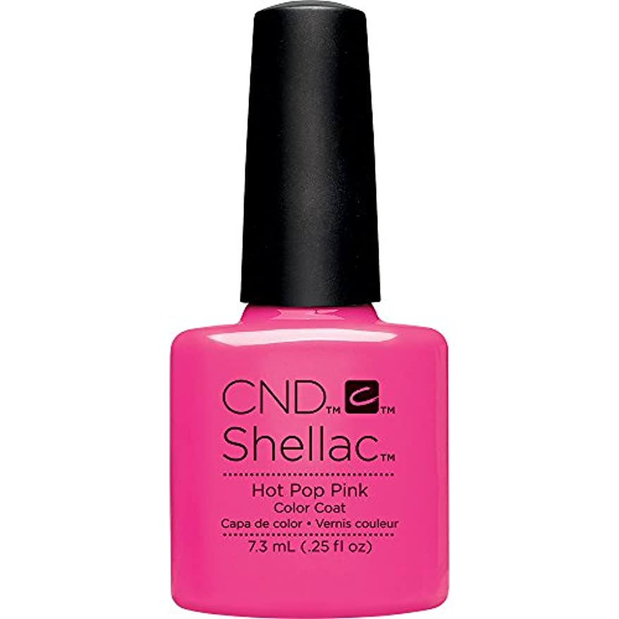 バー予見する確実CND(シーエヌディー) シェラック UVカラーコート 519 Hot Pop Pink(マット) 7.3ml