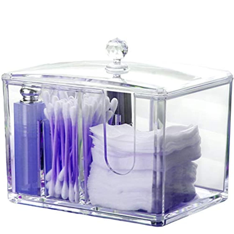 欺理容師広がりAnberotta コスメボックス メイクボックス 化粧品収納ケース 防塵 蓋付き ジュエリー コットン 綿棒 透明 小物入れ 大容量 J73 (タイプA)