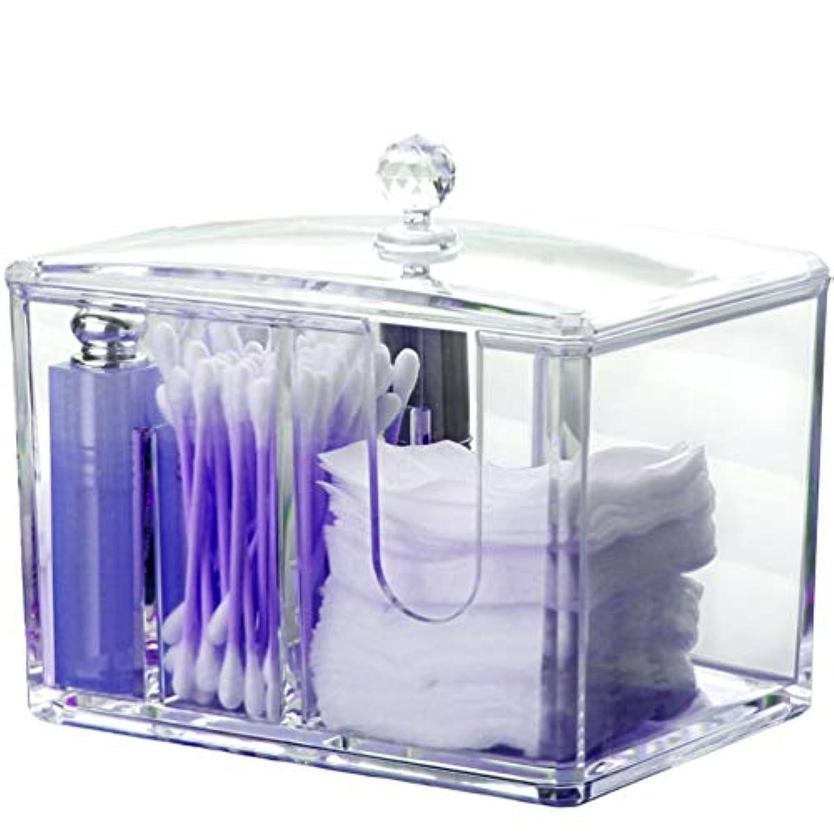 手段すぐにマークされたAnberotta コスメボックス メイクボックス 化粧品収納ケース 防塵 蓋付き ジュエリー コットン 綿棒 透明 小物入れ 大容量 J73 (タイプA)
