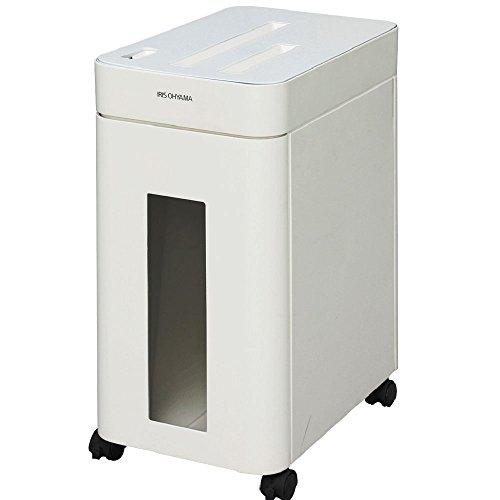 アイリスオーヤマ 電動 シュレッダー クロスカット 定格時間10分 静音 PS8HMI ホワイト