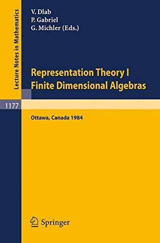Representation Theory I. Proceedings of the Fourth International Conference on Representations of Algebras, held in Ottawa, Canada, August 16-25, 1984: Finite Dimensional Algebras (Lecture Notes in Mathematics)
