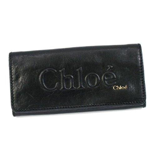 (クロエ) CHLOE SHADOW LONG WALLET W FLAP 長札入財布 #3P0321 7A733 001 BLACK 並行輸入品
