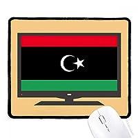 リビア国旗のアフリカの国 マウスパッド・ノンスリップゴムパッドのゲーム事務所