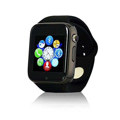 Antech A1 スマートウォッチ Bluetooth搭載 多機能腕時計 スマートデジタル腕時計 Bluetooth smart A1  watch スマート ウォッチ 1.44インチ 多機能腕時計Watch 健康 タッチパネル 着信お知らせ/置き忘れ防止/歩数計/ストップウォッチ/高度計/アラーム時計 Antech smart watch (ブラック)