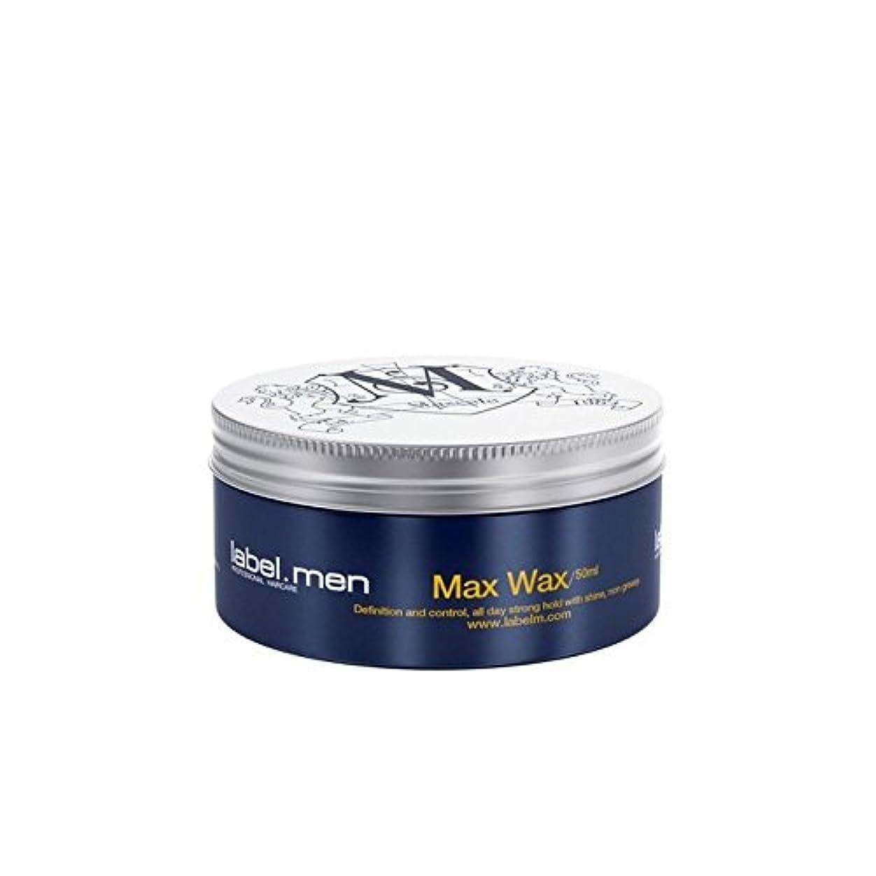 ありふれた成人期回答Label.Men Max Wax (50ml) (Pack of 6) - .マックスワックス(50ミリリットル) x6 [並行輸入品]