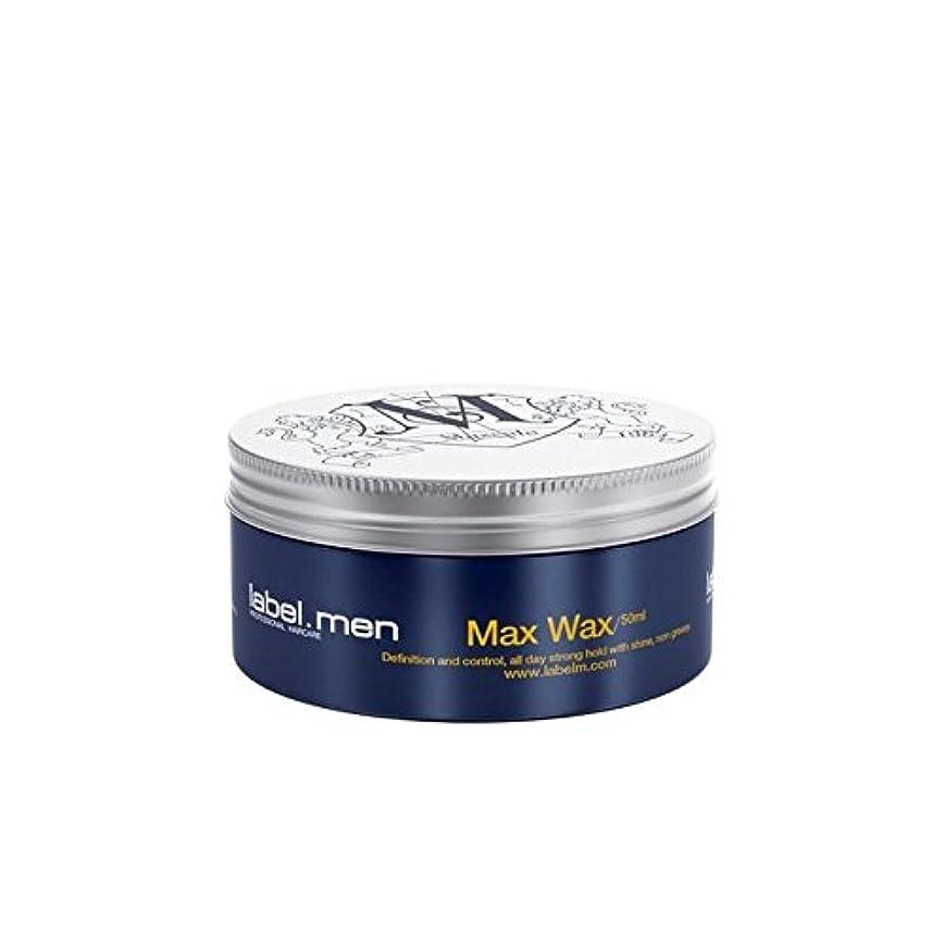 グロー遅いナイトスポットLabel.Men Max Wax (50ml) (Pack of 6) - .マックスワックス(50ミリリットル) x6 [並行輸入品]