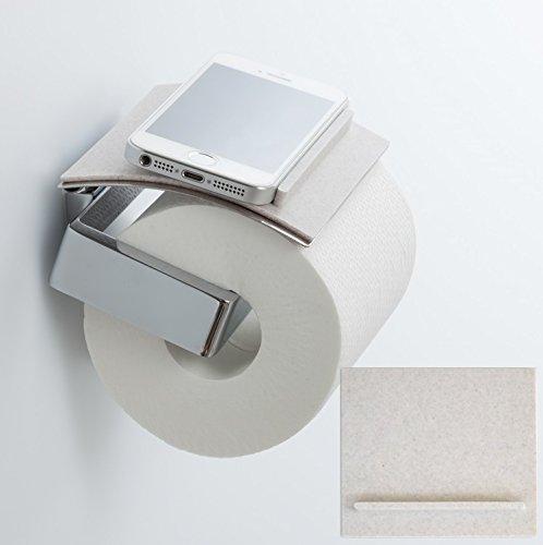 【toilet tray / トイレトレイ】トイレでのスマホや小物の置き場所、解決! (ホワイト)