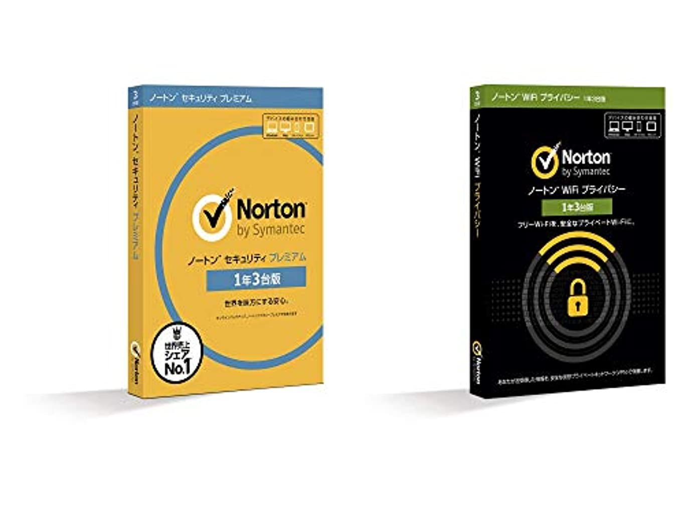 軽チャペル咳ノートン セキュリティ プレミアム 1年3台版 + WiFi プライバシー 1年3台版 (同時購入版) | Win/Mac/iOS/Android対応