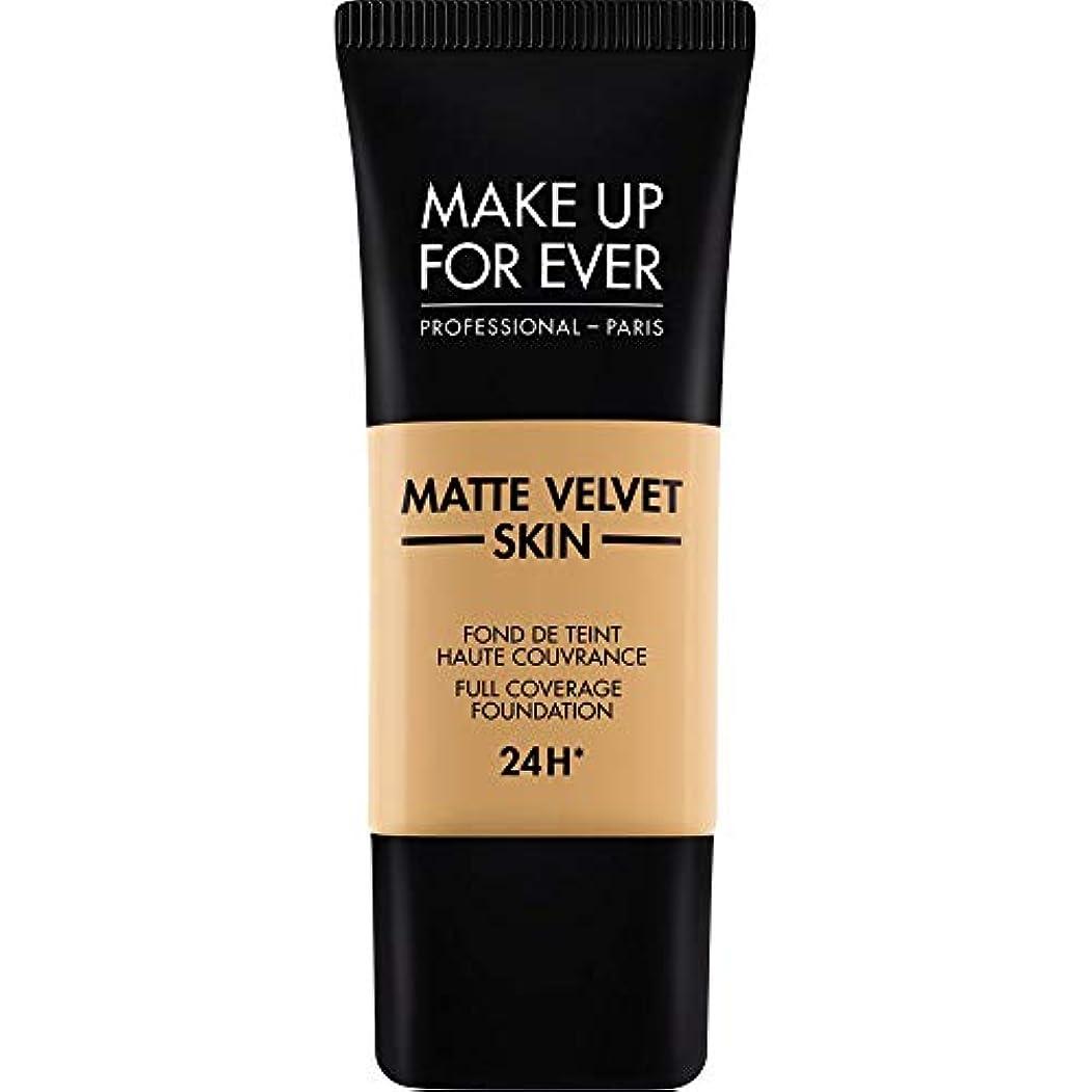 サンダルシャワー里親[MAKE UP FOR EVER] 黄金の蜂蜜 - これまでマットベルベットの皮膚のフルカバレッジ基礎30ミリリットルのY405を補います - MAKE UP FOR EVER Matte Velvet Skin Full...