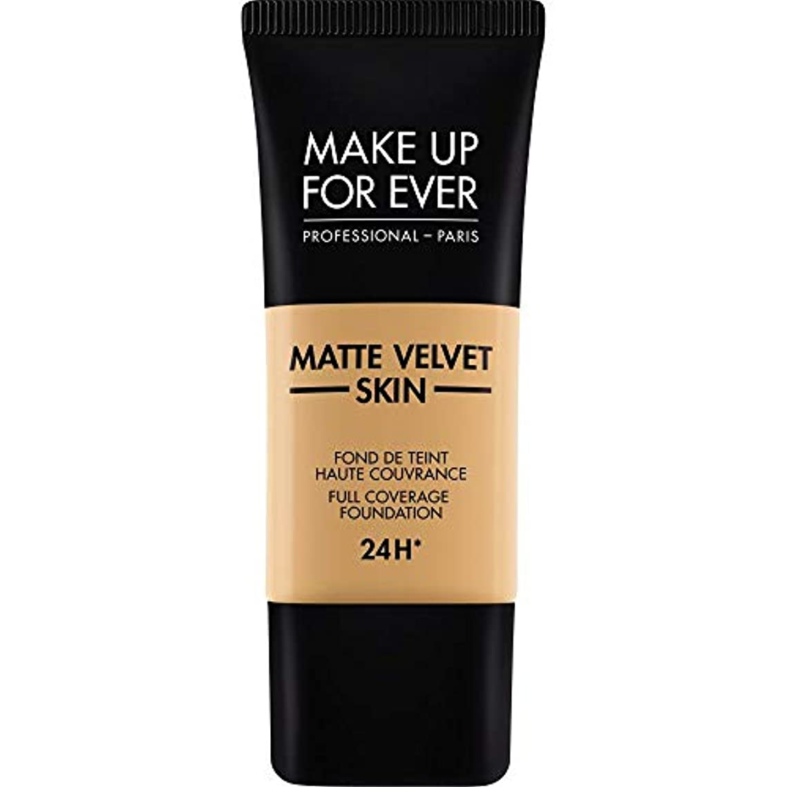 残忍な安西交換[MAKE UP FOR EVER] 黄金の蜂蜜 - これまでマットベルベットの皮膚のフルカバレッジ基礎30ミリリットルのY405を補います - MAKE UP FOR EVER Matte Velvet Skin Full Coverage Foundation 30ml Y405 - Golden Honey [並行輸入品]