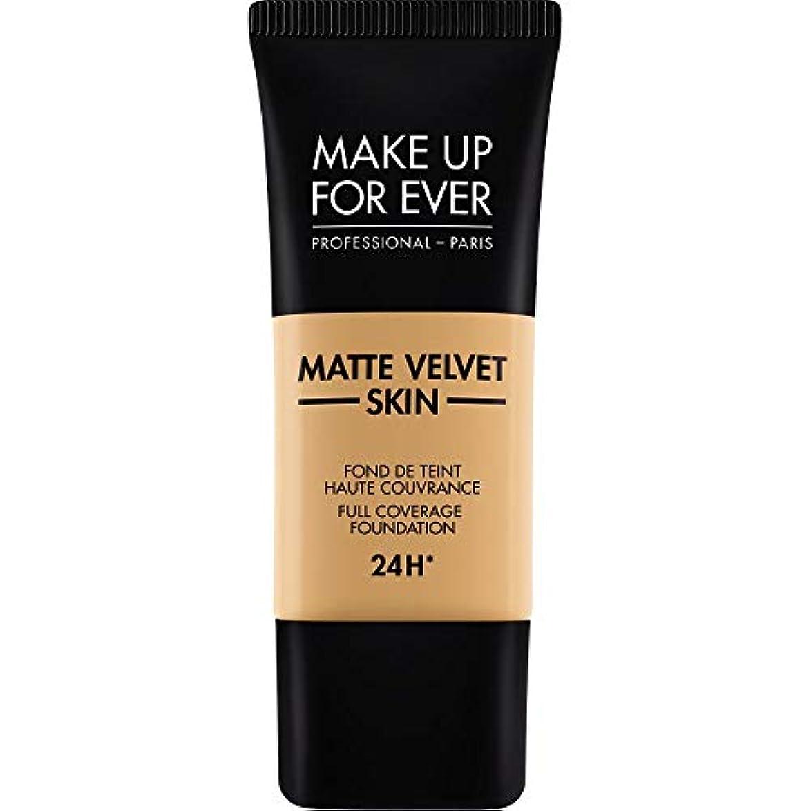 できない原子契約[MAKE UP FOR EVER] 黄金の蜂蜜 - これまでマットベルベットの皮膚のフルカバレッジ基礎30ミリリットルのY405を補います - MAKE UP FOR EVER Matte Velvet Skin Full...